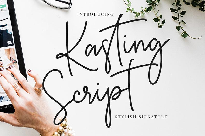 Kasting Fancy Signature Font Download