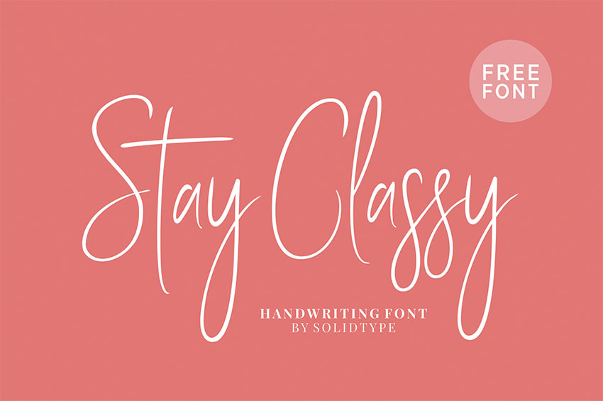 Stay Classy - Elegant Signature Font