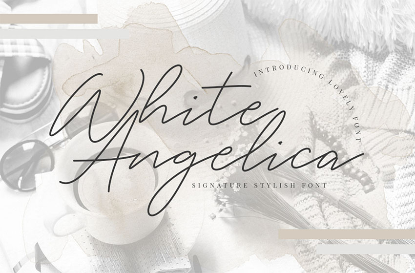 White Angelica - Signature Type Fonts