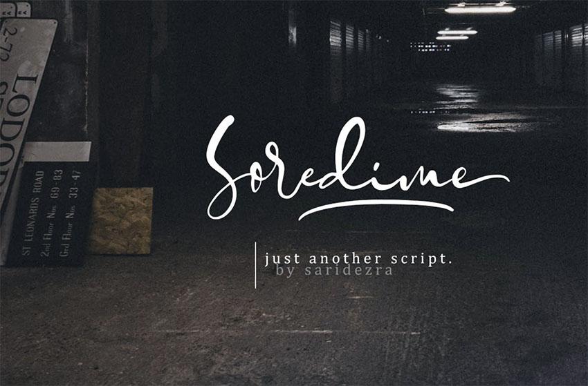 Soredime - Signature Script Font