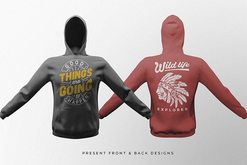 Pullover Hoodie Mockup Templates