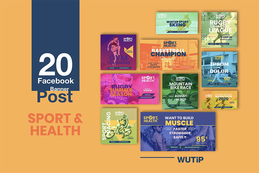 20 Facebook Sports Banner Templates