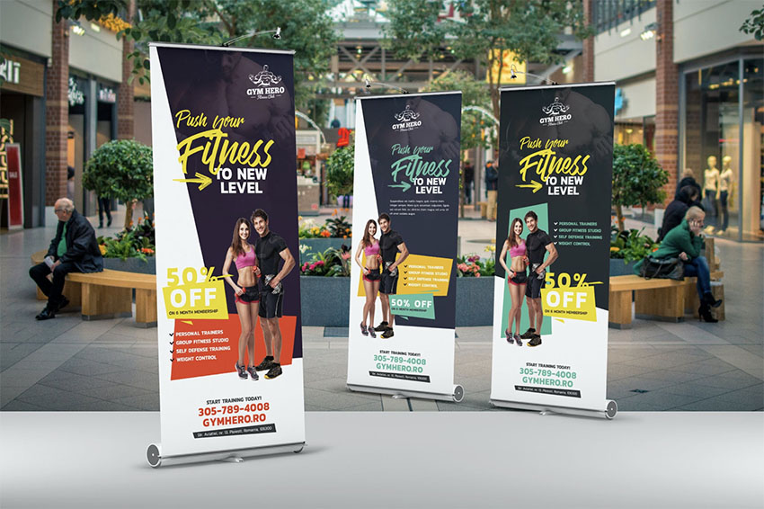 Roll-Up Sports Banner Templates