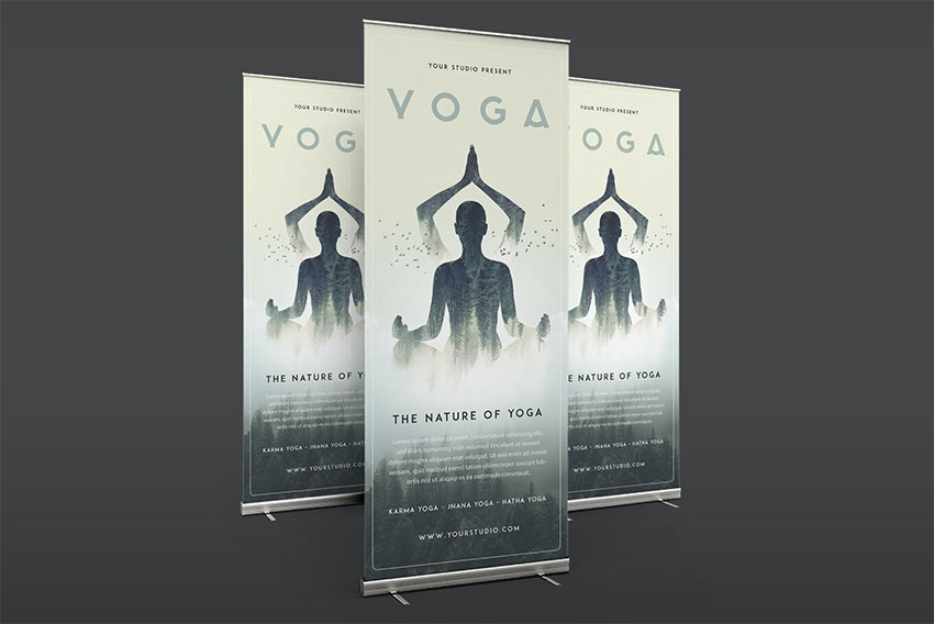 Yoga Roll Sports Banner Templates