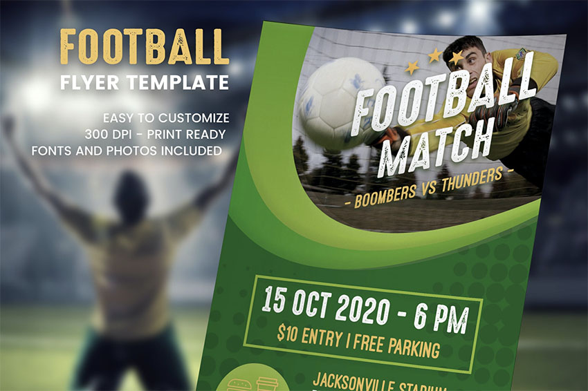 Sports Flyer Templates - Football