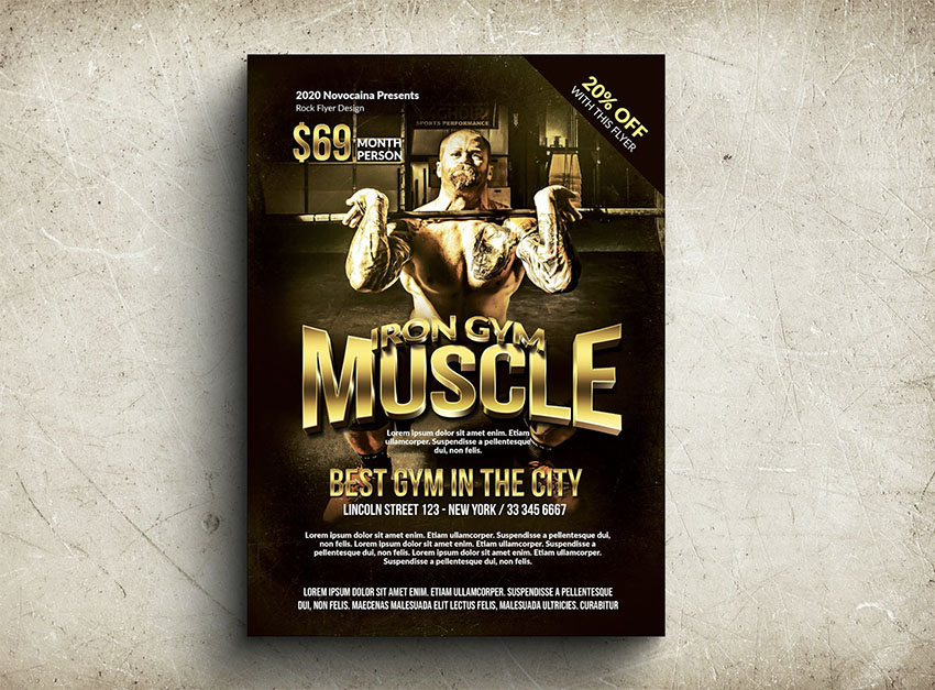 Gym  Fitness Sports Flyer Templates