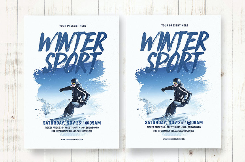 Winter Sports Flyer Templates