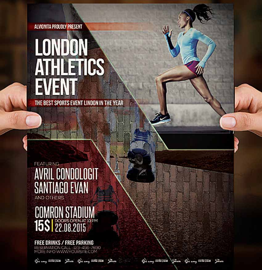 Athletics Sports Poster Templates Photoshop