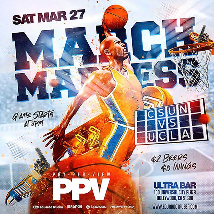 Basketball Madness Sports Flyer Templates