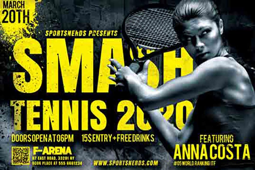 Tennis Sports Flyer Templates