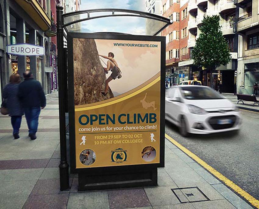 Climbing Sports Poster Templates Photoshop