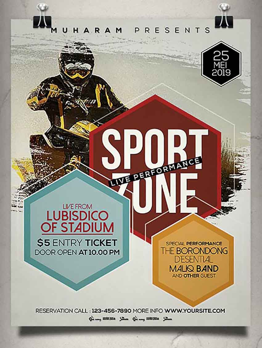 Sports Poster Templates Photoshop