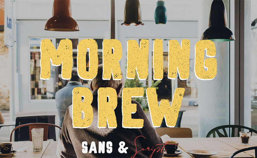 MORNING BREW - FREE HAND PAINTED FONT