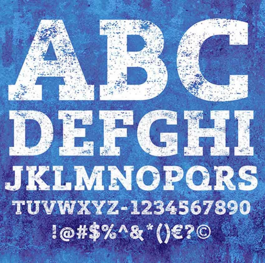 Free Font Lev Black Distressed