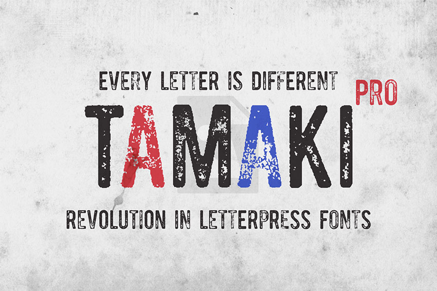 Tamaki-Pro Distressed Letters Font
