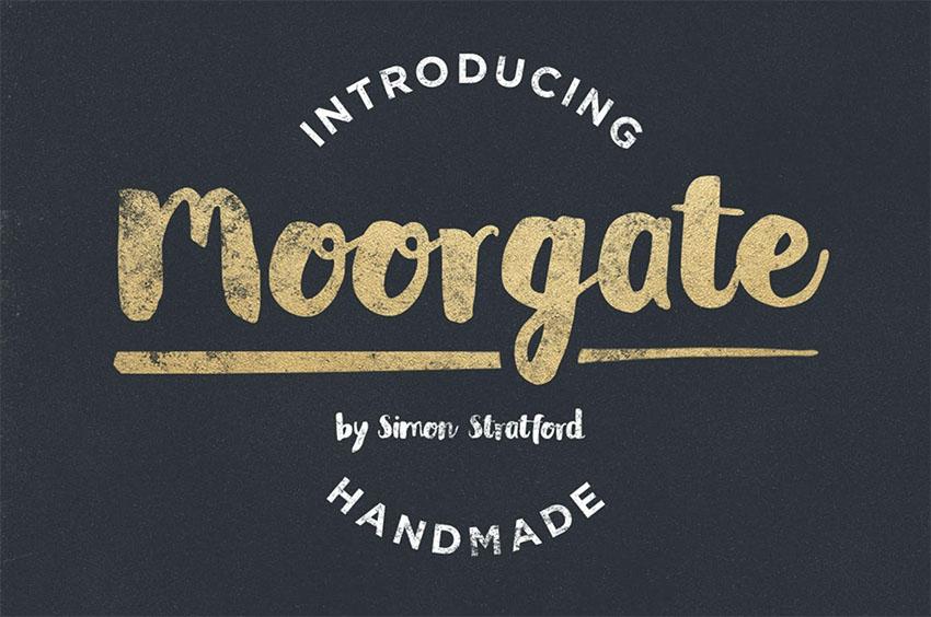 Moorgate Distressed Script Font