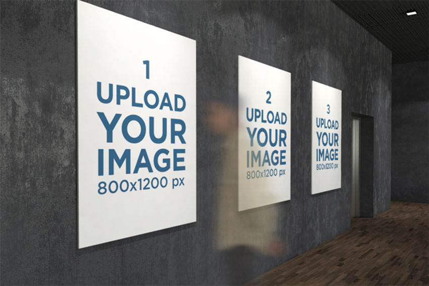 Three Exhibition Posters Mockups