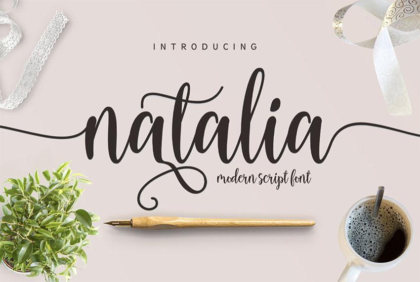 Natalia Script Calligraphy Font