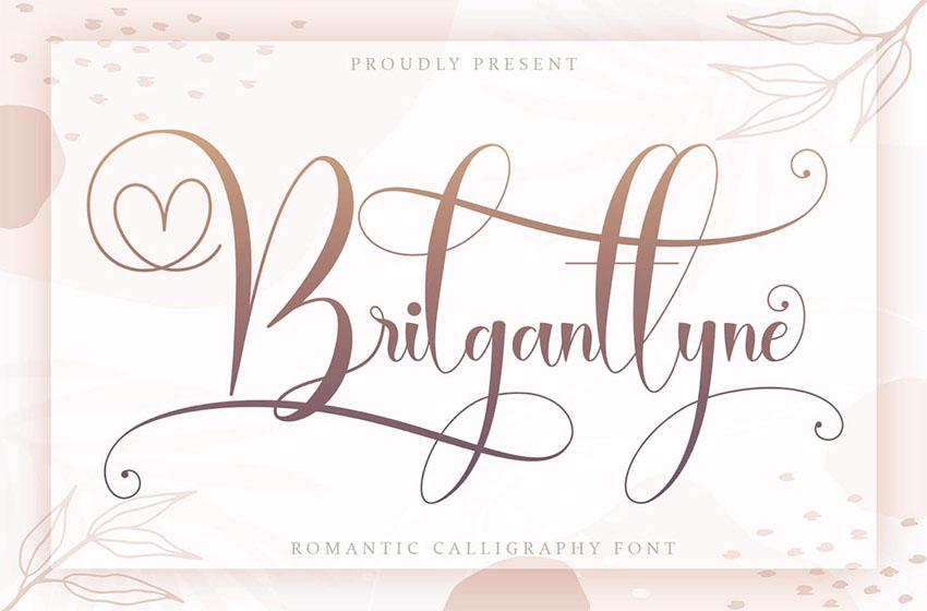 Brilgantyyne Script Free