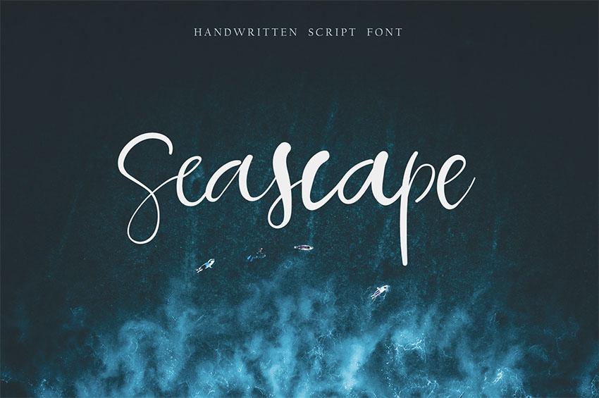 SEASCAPE SCRIPT - FREE HANDWRITTEN SCRIPT FONT
