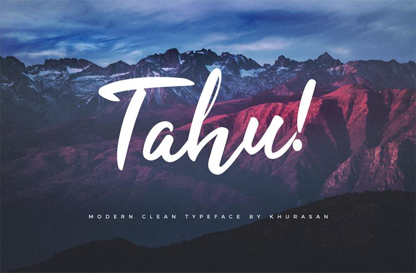TAHU - FREE SCRIPT FONT