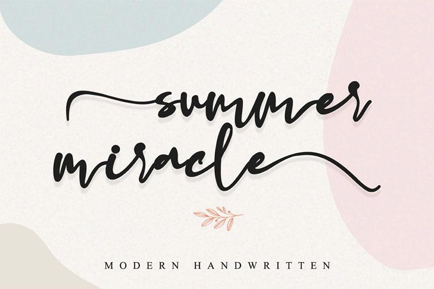 FREE  Summer Miracle Modern Handwritten Font