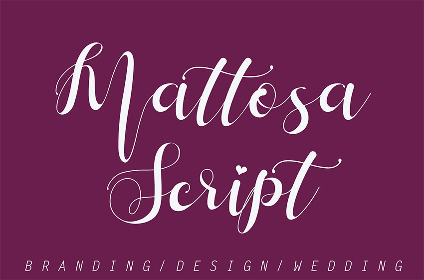 Mattosa Script Font with Swashes