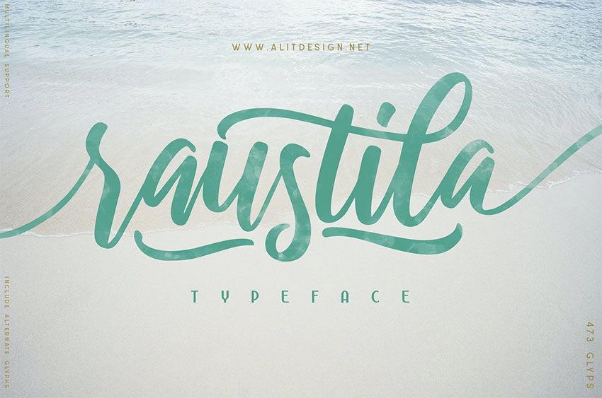 Rautila Script Font with Tails