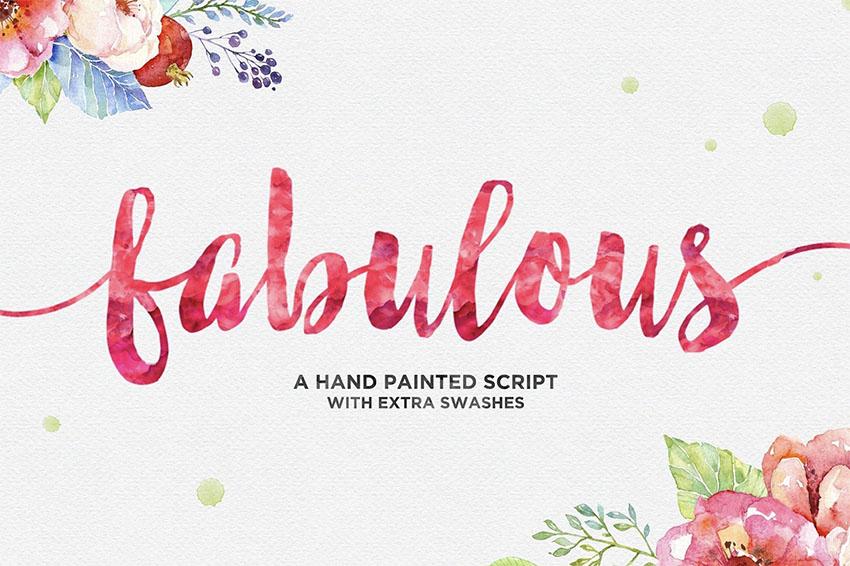 Fabulous Script Fonts with Tails