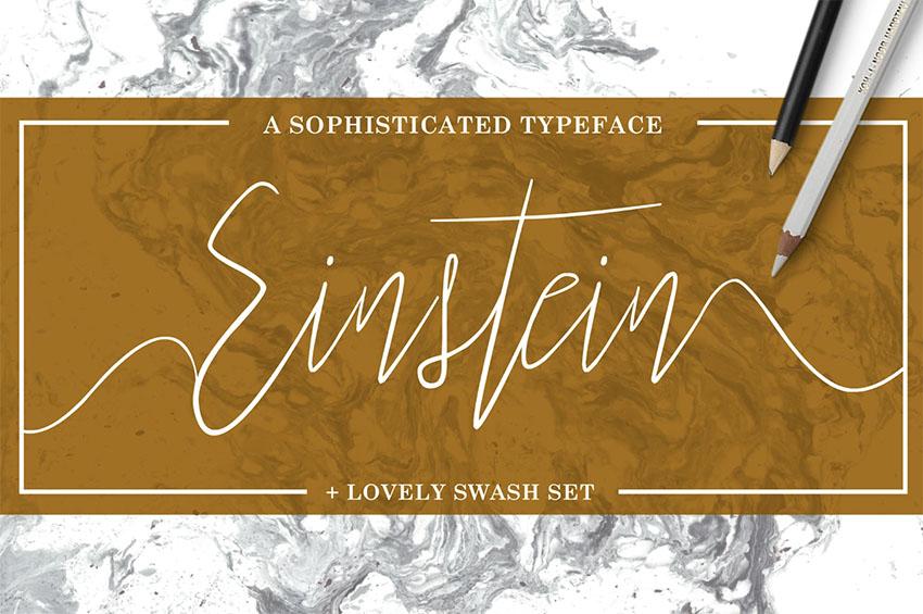 Einstein Swash Flourish Font