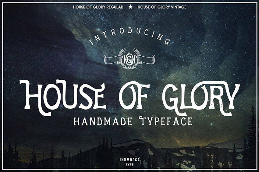 House Of Glory Serif Font with Swashes