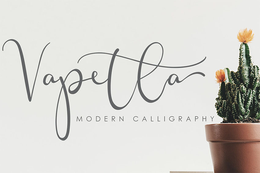 Vapetla Cursive Font with Long Tails
