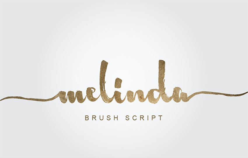 Melinda Brush Script Font with Tails