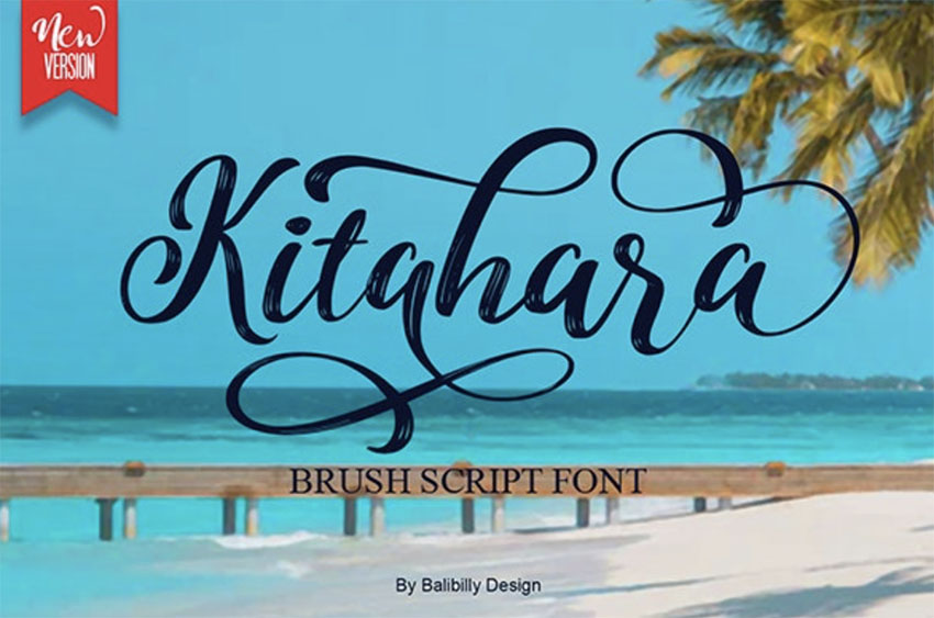 Kitahara Brush Script Font with Tails