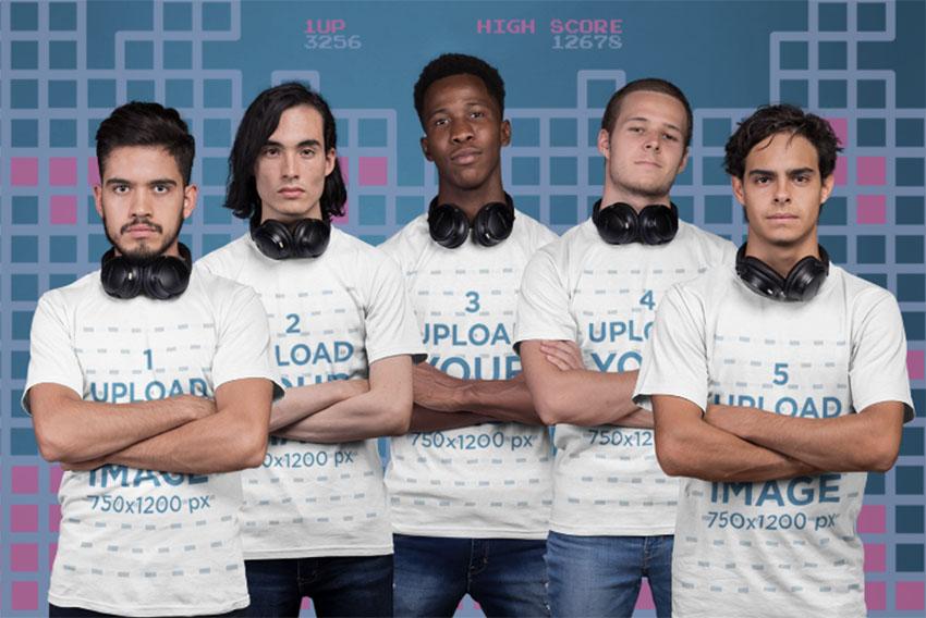 Esports T-Shirt Design Mockup