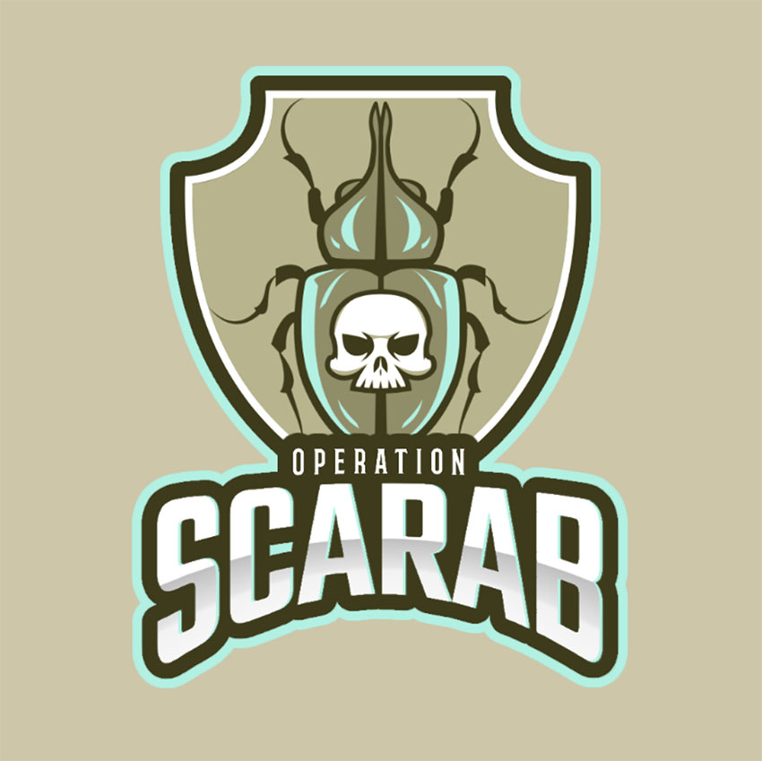 Gaming Team Logo Featuring a Deadly Beetleempla