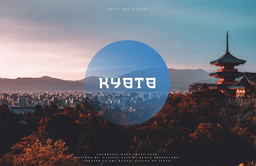 Kyoto - Japanese Display Typeface