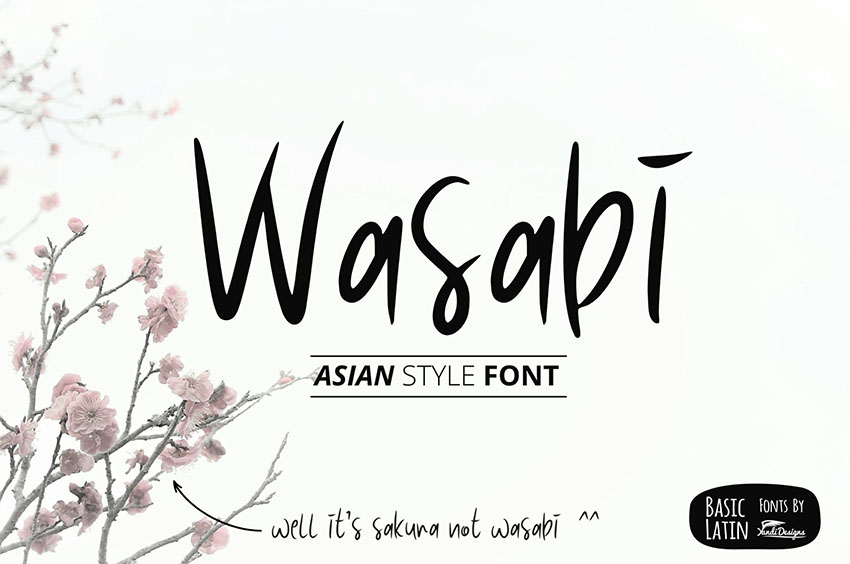 Wasabi Japanese Calligraphy Style Font