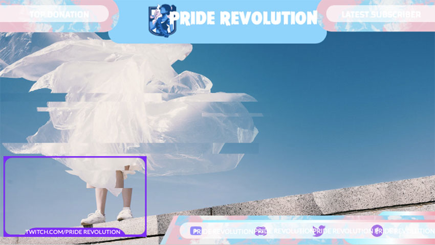 Pride Twitch Overlay Template With Web Frame