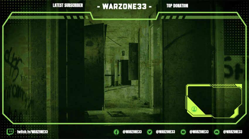 Overlay for War Themed Streaming Channel