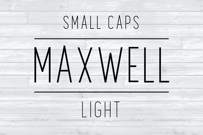 Maxwell Sans Small Caps Light
