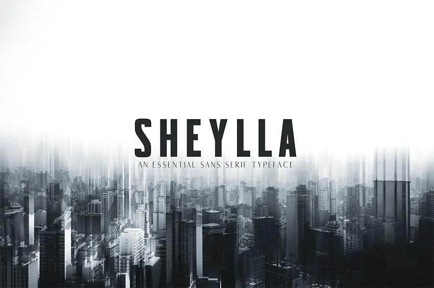 Sheylla Sans Serif Typeface
