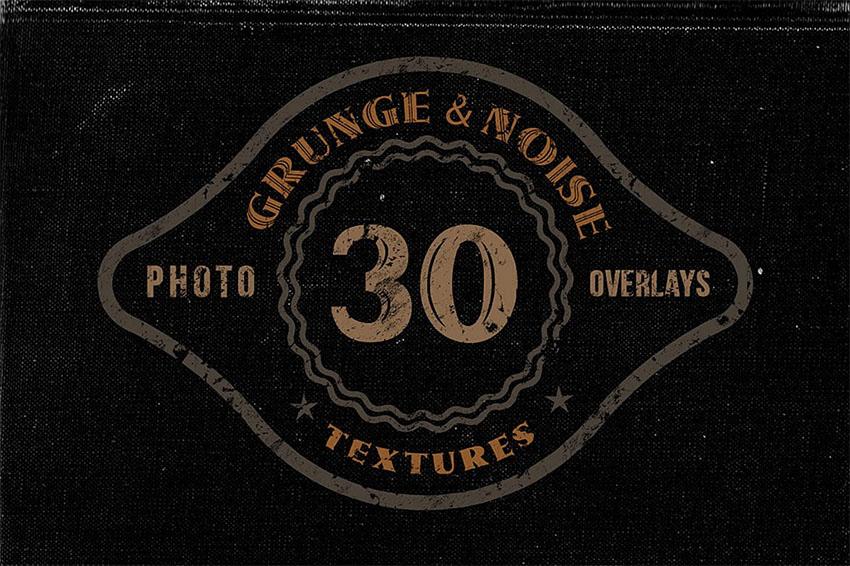 30 Noise Grunge Grain Texture Overlays