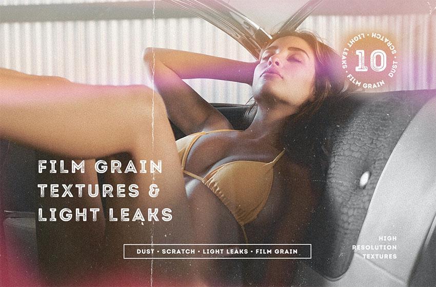 Photo Grain Textures  Light Leaks