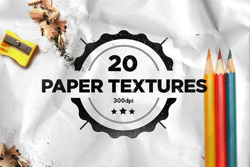 Crumpled  Folded Paper Texture Photoshop