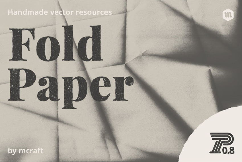 Hi-Res Fold Paper Texture Overlays