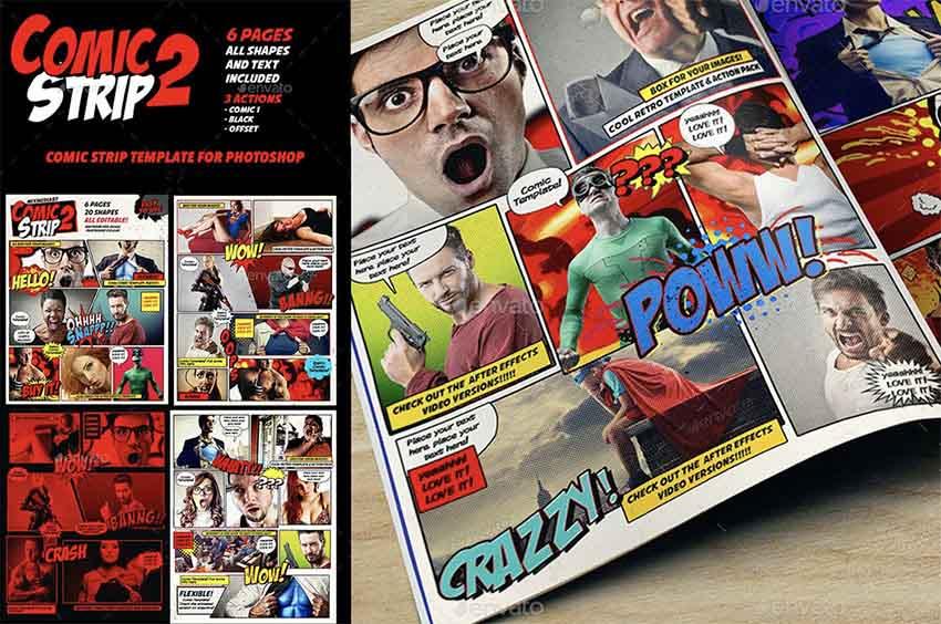 Comic Book Template Photoshop