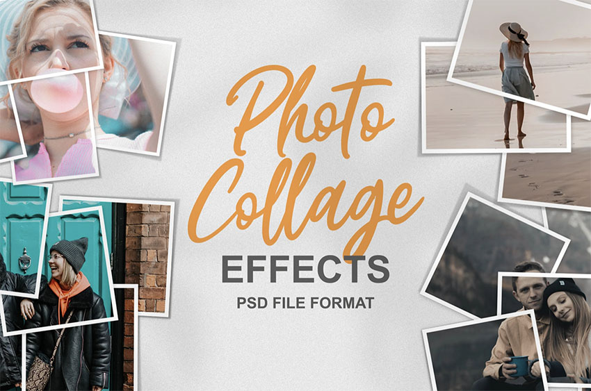 Photo Collage Template Photoshop