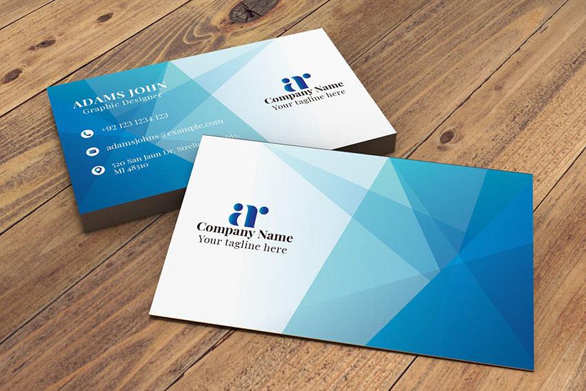 Geometric Photoshop Business Card Template