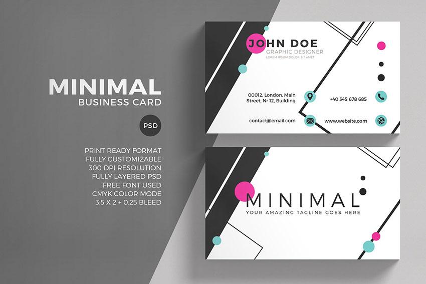 Minimal Photoshop Business Card Template